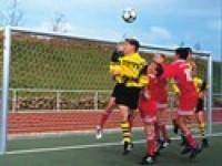Fotbalová síť juniorská, 3,5mm, PP, hexadiagonální oko, hloubka nahoře/dole 0,8/1,5m