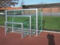 Hliníková branka street fotbal 1,20 x 0,80m, hl. 0,7m, vč. sítě 100mm