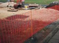 Demarkační stavební plot rašlový vč. tyček