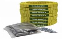 Merco umělé lajny Geniala šíře 4 cm nebo 5 cm žluté