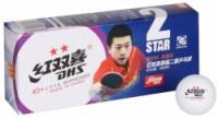 DHS míčky na stolní tenis 40 2 hvězdy sada 10ks plastové