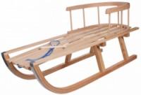 dřevěné sáňky Wood 86x32x22cm s ohrádkou